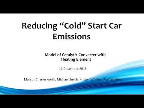 Catalytic Converter Heating for Reduced Pollution at Start-up