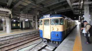 長野駅 しなの鉄道の115系横須賀色 Shinano Railway Nagano Station (2018.4)