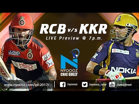 Live IPLT20 : Royal Challengers Bangalore Vs Kolkata Knight Riders Match Preview on Cric Gully