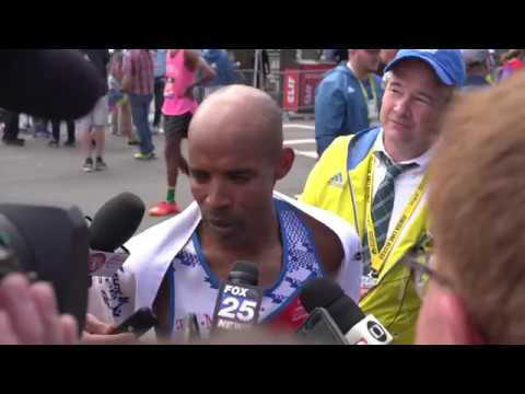 2017 Boston Marathon Post-Race Interview with Meb Keflezighi