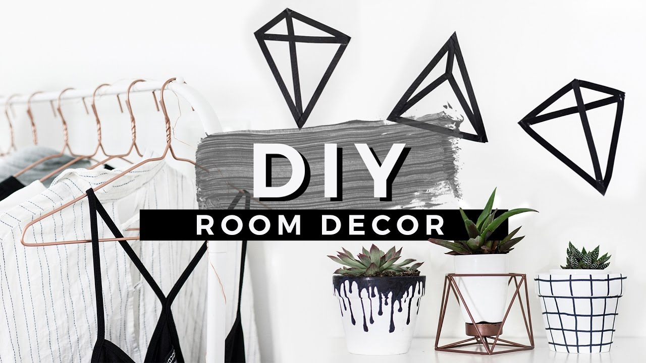 Bedroom Chair With Hanger Modern Styling Chairs Diy Tumblr Room Decor! Easiest Diys Ever! - Youtube