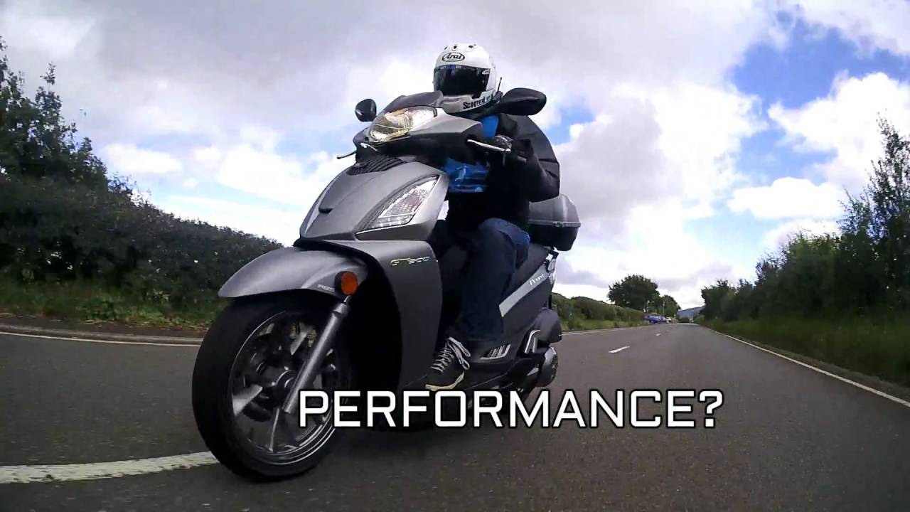sluk | kymco people 300 gti gt300i road test review - euro 4 abs
