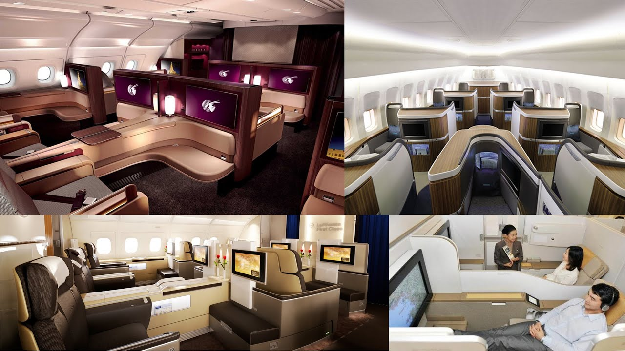 Top 10 Best First Class Cabins (2K)