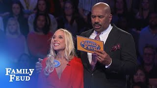 Jenny and Stephy play Fast Money! | Family Feud