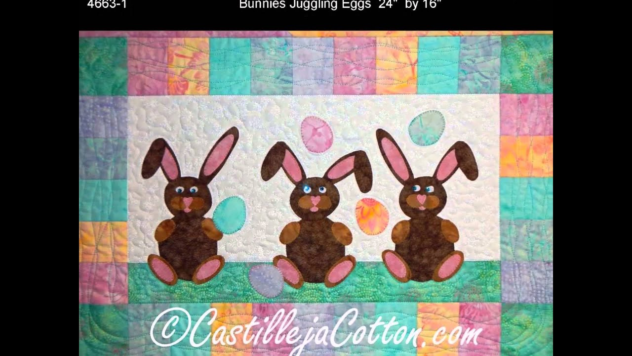 Easter Bunny Quilt Patterns By Castilleja Cotton Youtube
