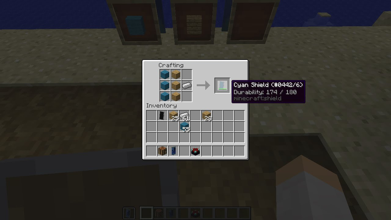 Minecraft Shield Crafting Recipe