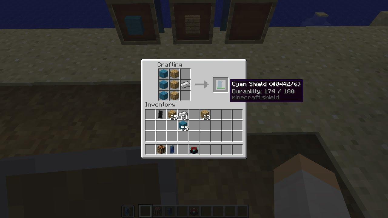 How to craft Shields Minecraft 1.9 15w 33c - YouTube