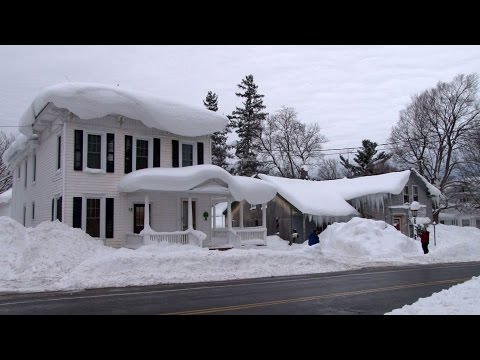 Lake Effect Snow Storm- Blizzard Aftermath (4 TO 5 FEET!) Adams/Watertown, NY 1.11.2015