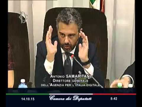 Roma - Audizione direttore generale Agenzia per l'Italia digitale, Samaritani (14.10.15)
