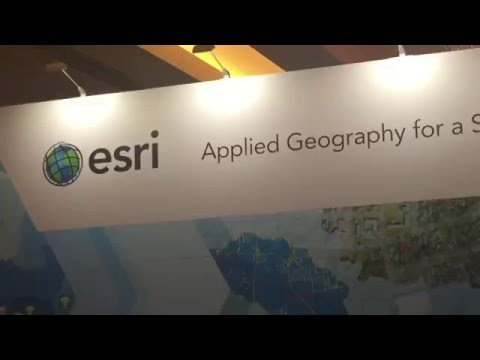 Esri Exhibit during the American Association of Geographers Annual Meeting