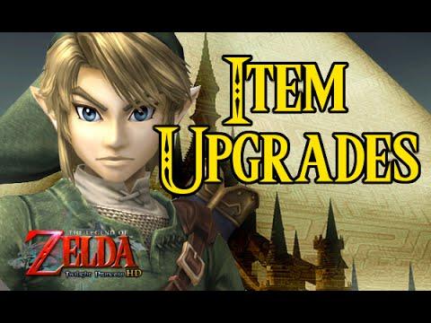 Zelda Twilight Princess Item Upgrades