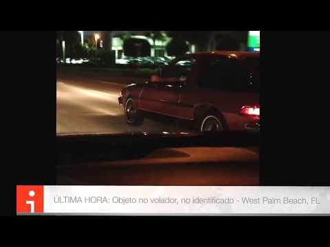 Super Martinez - Conductores de West Palm Beach dicen haber visto en las calles un UFO