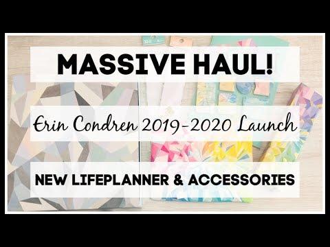 Massive Erin Condren Haul | 2019-2020 Launch | New Life Planner & Accessories |