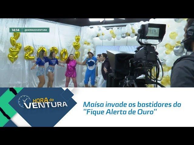 Maísa invade os bastidores do ''Fique Alerta de Ouro'' - Bloco 01