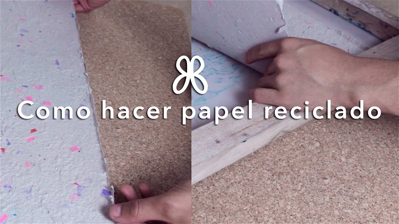 Como crear papel reciclado para manualidades youtube - Manualidades de papel reciclado ...