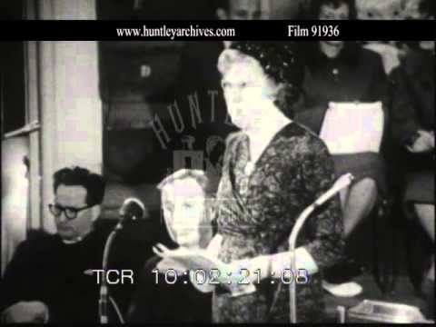 Mary Whitehouse.  Archive film 91936