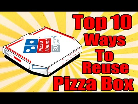 Pizza Box : Top 10 Ways To Reuse Pizza Box - YouTube