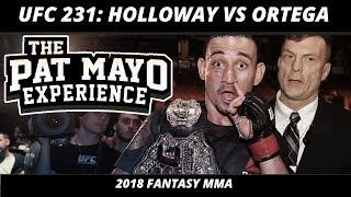 2018 Fantasy MMA: UFC 231 DraftKings Picks — Holloway vs Ortega Fight Previews