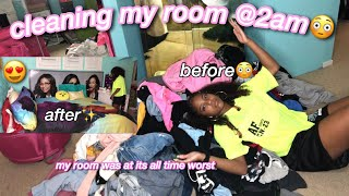 cleaning my room at 2am + room transformation tour