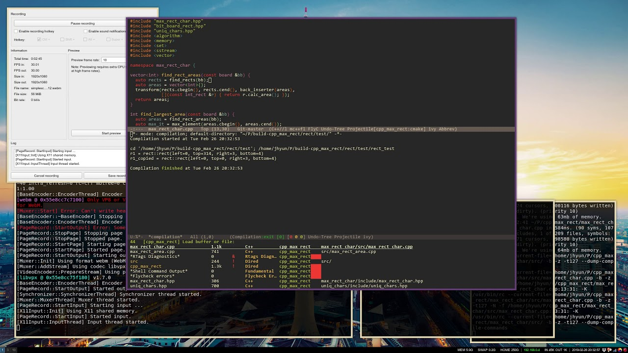 My Emacs + RTags, rmsbolt, Ivy/Counsel C++ Configuration 2019-Feb-26