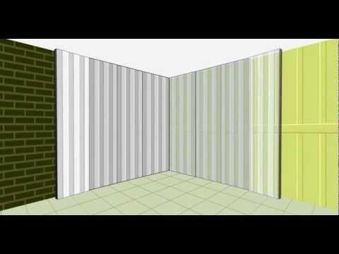 Revestimientos sanitarios de paredes y techos youtube - Revestimiento de techos ...