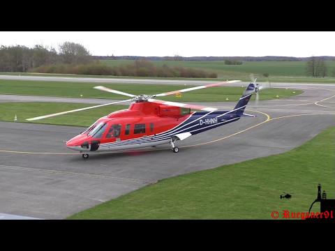 [HD] Offshore Sikorsky S 76 landing in EDCG Güttin / Rügen Airfield