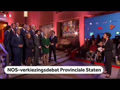 TERUGKIJKEN: NOS-verkiezingsdebat over de Provinciale Statenverkiezingen