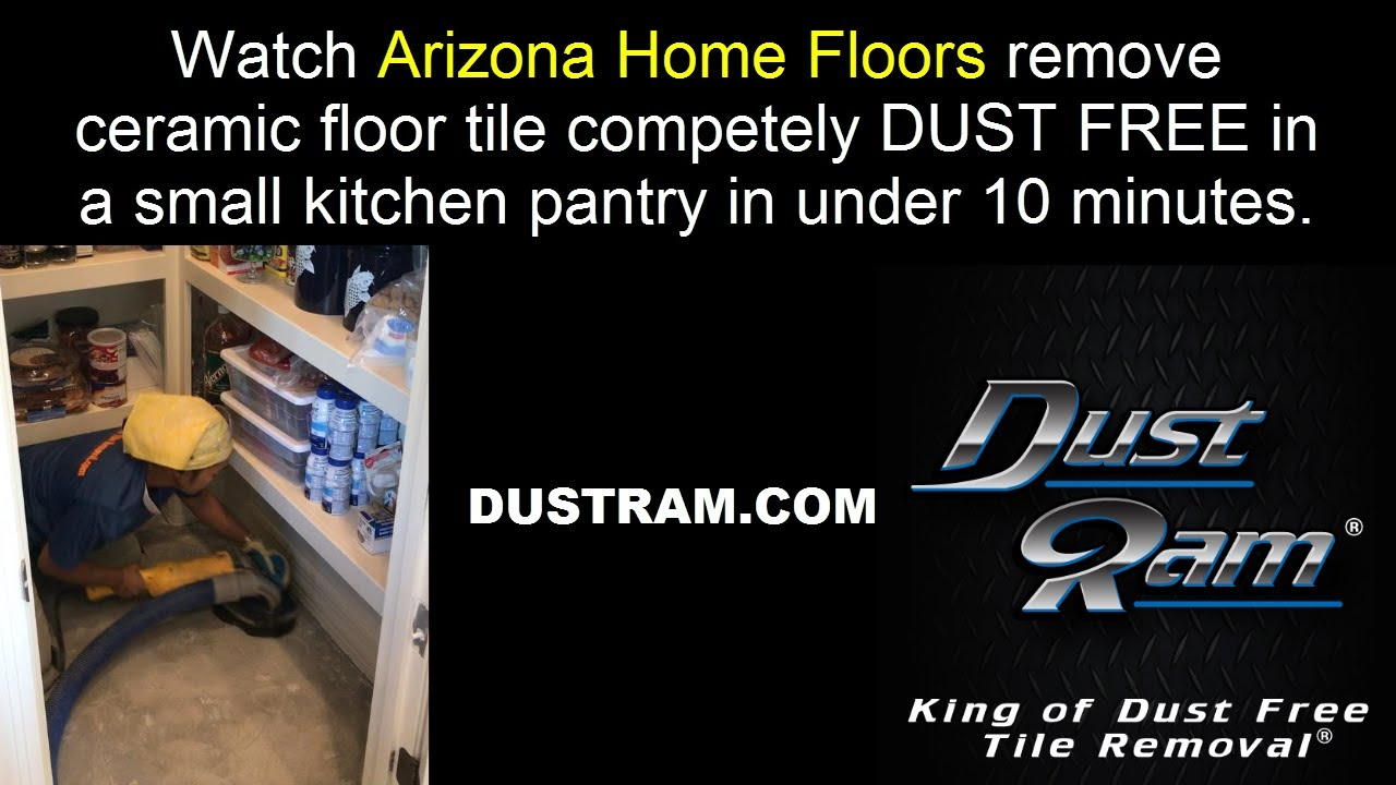 Scottsdale tile removal dust free pantry area completed in under scottsdale tile removal dust free pantry area completed in under 10 minutes dailygadgetfo Image collections