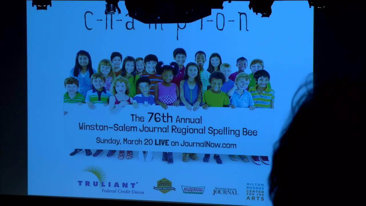 Winston-Salem Journal Spelling Bee 2016