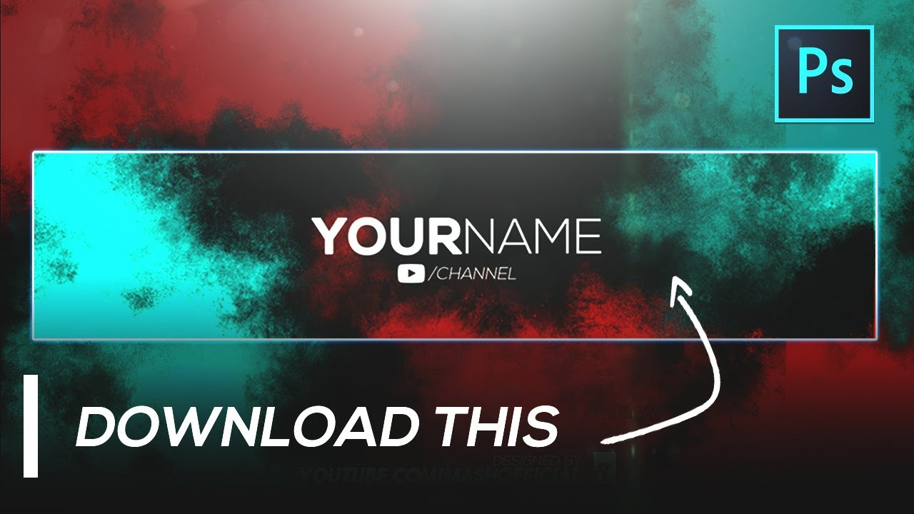 ⚡ Clean Banner YouTube Channel Art Template 🆓 Download for In Youtube Banners Template