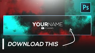 Clean Banner Template FREE GFX | Youtube Channel Art Template [Photoshop PSD]