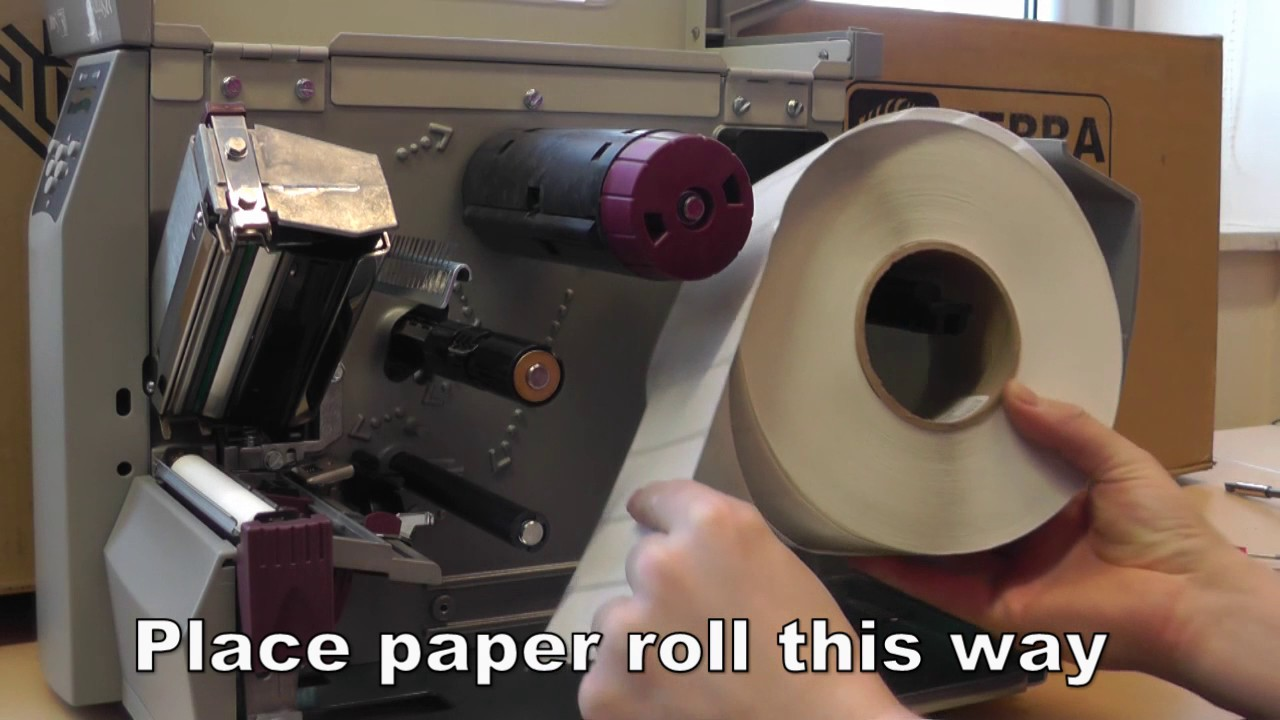 How to install or change papier on Zebra S4M label Printer DIY