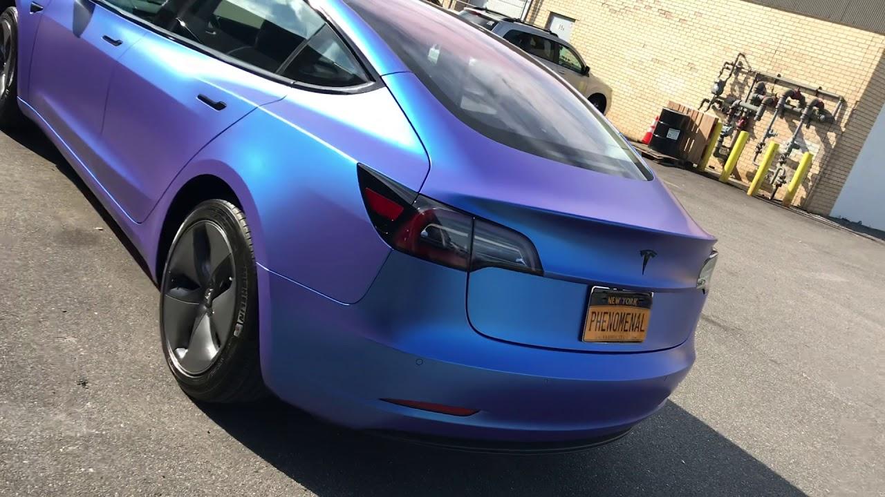 2018 Tesla Model 3 Vinyl Wrapped in 3m 1080 Series - YouTube