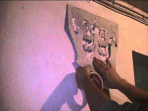 Anleitung und vorlage malen mit schablone aus tapeten youtube - Schablone wandmalerei ...