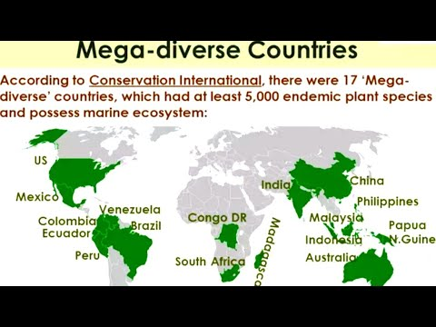 ENVIRONMENT MOST IMPORTANT GK 17 megadiverse countries in th