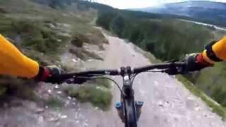 Overlander trail. Jasper.  Downhill mountain biking