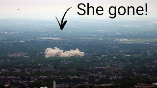 Watching a building EXPLODE from 2,000 feet!