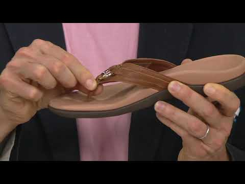 Vionic Thong Sandals w/ Ring Detail - Aloe on QVC