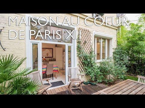 Maison à vendre 4 chambres - jardin-  au cœur de Paris Bercy - Opéra Bastille 12e ref : bientôt
