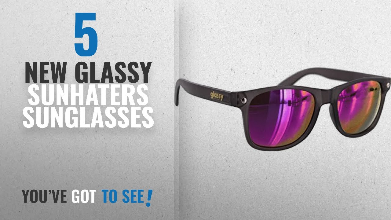 e5efaa08302 Top 10 Glassy Sunhaters Sunglasses   Winter 2018    Glassy Sunhaters  Leonard Dark Grey   Purple