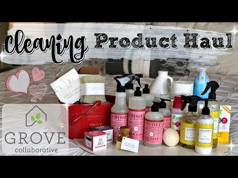HUGE HOLIDAY GROVE COLLABORATIVE HAUL 2018 :: NATURAL & NON TOXIC CLEANING PRODUCT UNBOXING