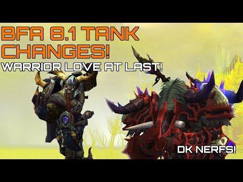 Upcoming BFA 8.1 Tank Changes