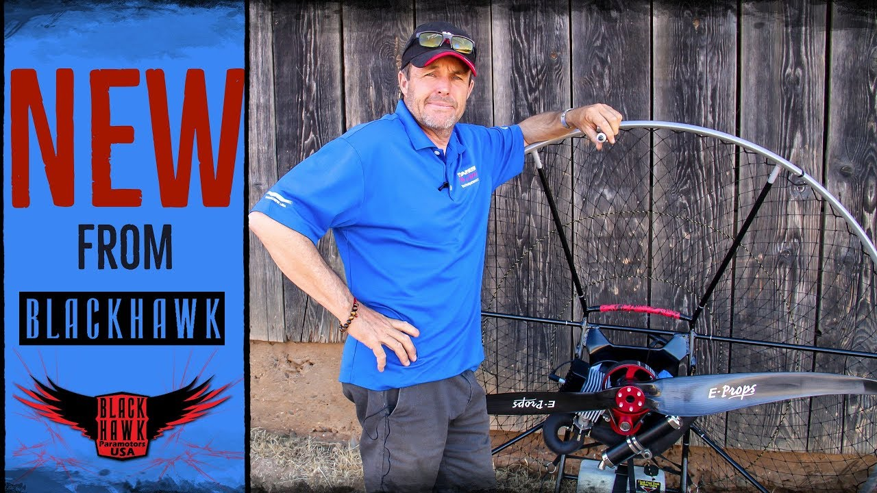 Meet The NEW 2019 BlackHawk Kestrel Paramotor Frame!