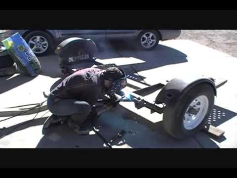 Welding Repair On Tow Master Towcar Dolly Youtube