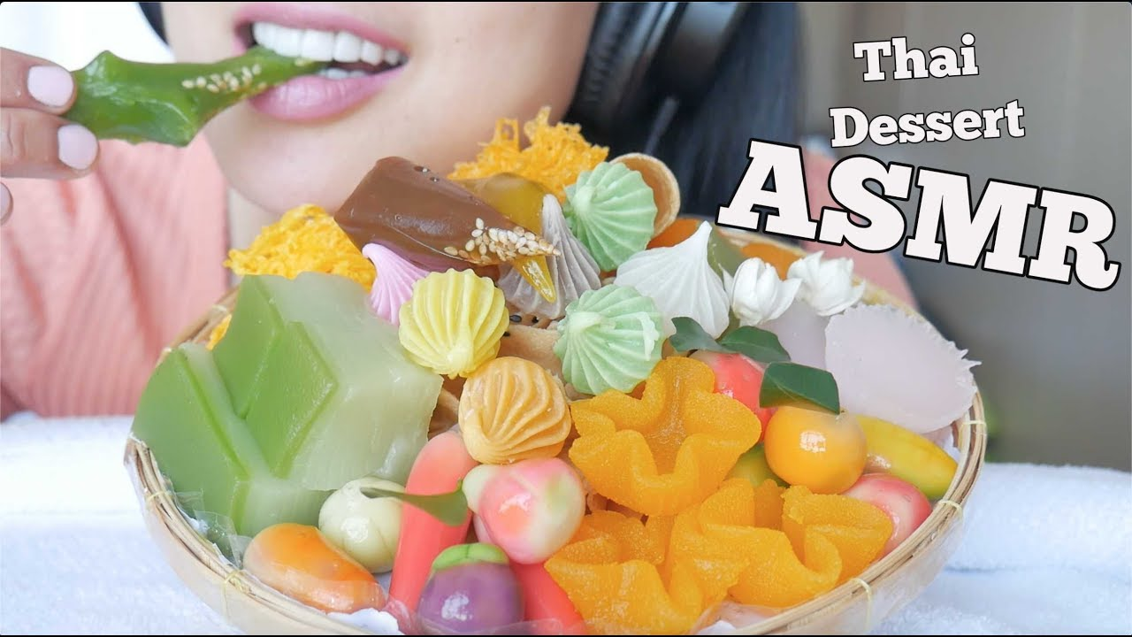 Asmr Thai Delicate Dessert À¸'นมไทย Soft Chewy Crunchy Eating Sounds Not Talking Sas Asmr Youtube Not just any videos, asmr videos. asmr thai delicate dessert ขนมไทย soft chewy crunchy eating sounds not talking sas asmr