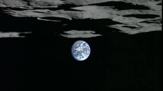 Lunar South Pole Earthset Viewed by Kaguya Spacecraft