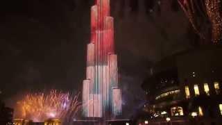 Burj Khalifa New Year Fireworks 2015