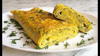 Быстрый Завтрак / Яичный Ролл с Сыром / Egg Roll with Cheese Recipe / Рулет из Яиц / Яичный Рулет