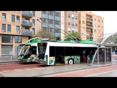 Tram De Castellon the last trolley bus system in Spain