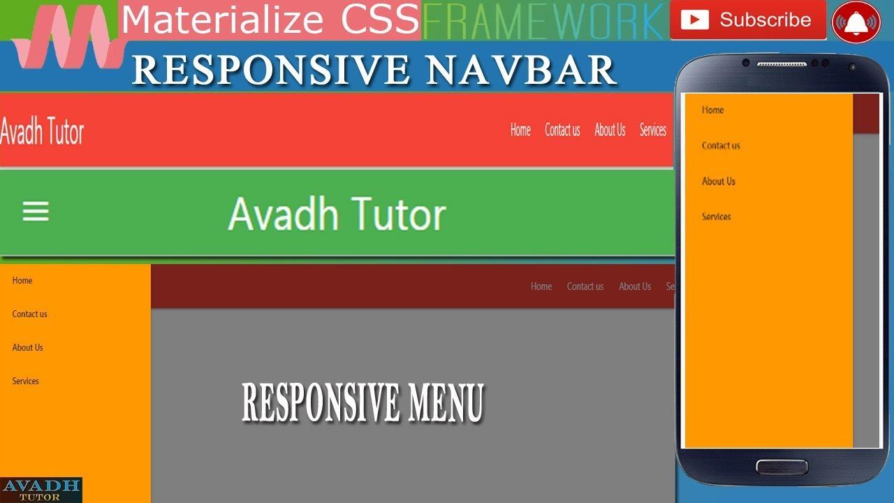 responsive menu bar || how to create responsive menu || how to create  responsive navigation bar